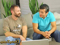 Francisco and George look at online porn and comparing what makes them. George..