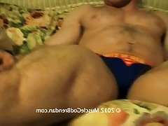 Watch as muscle God Brendan gets his big dick and gets sucked worshiped!