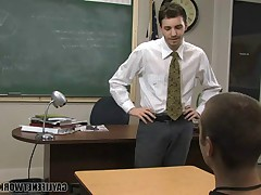 Young man Justin Giles is horny for a good grade. His teacher Wade Warren..