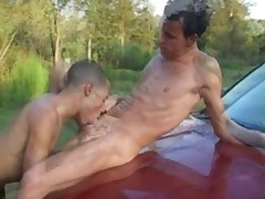 Physically gifted AJ connects with sexy Sebastian Blaque by the side of the..