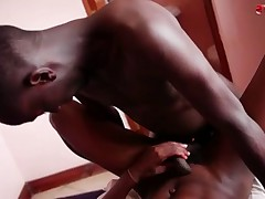Hot black fuck bareback and jizzload