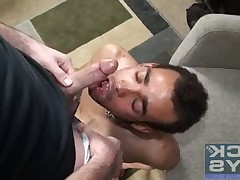 Seth Chase delivers one of his famous facial load cocksucker Kilo Lang. See..