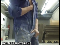 Horny boy masturbate at work ... more on shareyourbfs.com