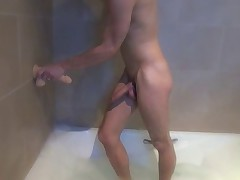 Fitness Day with my dildo. Homemade video of young gay guy French: Fabian..