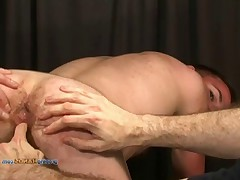 Tall, brooding and beautiful hairy Sean roughishly stud stripped, fingerfucked..