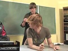 Dominating drama teacher at the present moment, blowjob