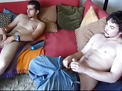 Two Latin American comrades numbers can not get enough jerking off action at..