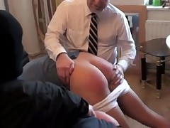 Andy Lee and Bailey Morgan face double spanking from Mr. X and Dr. Burton. See..