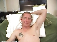 Military Ad - watch this straight guy get talked into getting his big dick..