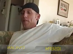 Military Ad - watch this straight guy get his cock sucked for the first time..