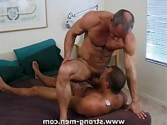 Two amazing pieces of mature muscle damn hard.