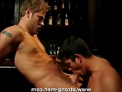 Two sexy studs having oral and anal sex.