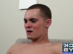 Beautiful Trevor Grant gets sucked for the first time (guy or girl). See the..