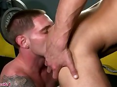 Jay slides his long meat in Marcus hole and fucks him good!