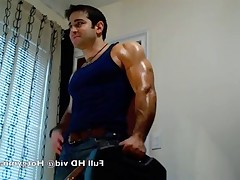 Large studs Alpha Anthony stroking his thick cock and cum!