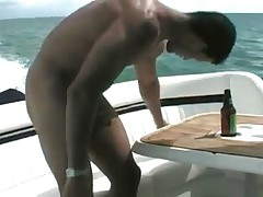 Check out Adam beating off and showing his huge cock on our boat. For the full..