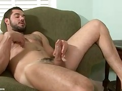 Dean Monroe ends of the pool to masturbate on the couch