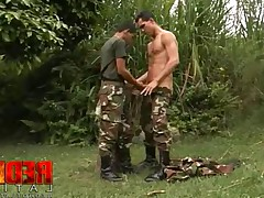 Preciado in trouble. Towering soldier Duran Preciado caught with his tongue in..