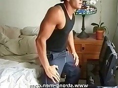 Sexual pieces of muscle posing naked and masturbate.