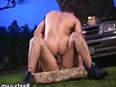 Horny guys fucking a mechanic in time. Hot gay asshole fucking in the garage..