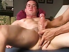 Masturbates - huge load of huge dick