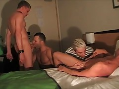 Four young, athletic guys only one thing in mind: to pump semen out of their..