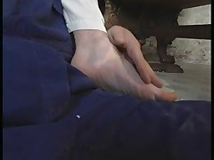 Running shoes, socks, feet and sex ... That's what this video is all..