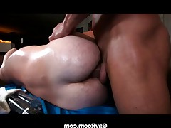 Patrick Hunter needs a set of strong hands to apply some friction with his..