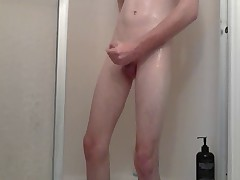 18-year-old high-school student taking a shower