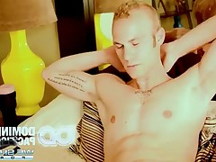 Gorgeous Blond stud Cal wakes up with some hard inches to meet this jerk
