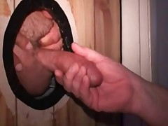 Would you love to see the big dick sticking through a glory hole, just waiting..