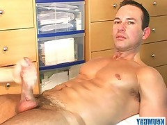 Marco beautiful swimmer to get jerked off his huge dick at me!