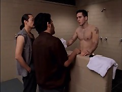 Kirk Acevedo totally nude in the shower in Oz